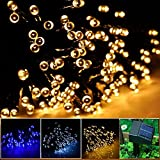 INST Solar Powered LED String Light, Ambiance Lighting, 55ft 17m 100 LED Solar Fairy String Lights for Outdoor, Gardens, Homes, Christmas Party (Warm White)