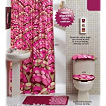 Pink Fuschia Bath Set 6 Pcs