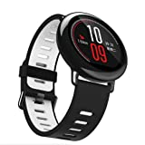 VESNIBA 22mm Replacement Silicone Sports Strap Band For Xiaomi HUAMI AMAZFIT Smart Watch (Gray) (Color: Gray, Tamaño: 14.5 - 22cm)