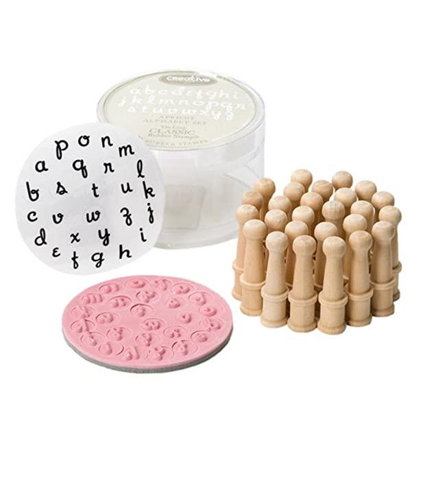 Mini Alphabet Rubber Stamp Set