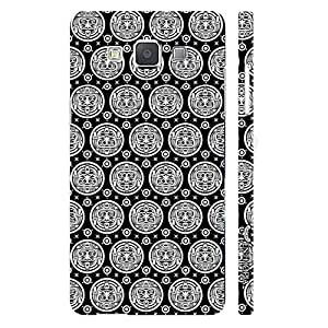 Samsung Galaxy A7 Black Woodo designer mobile hard shell case by Enthopia