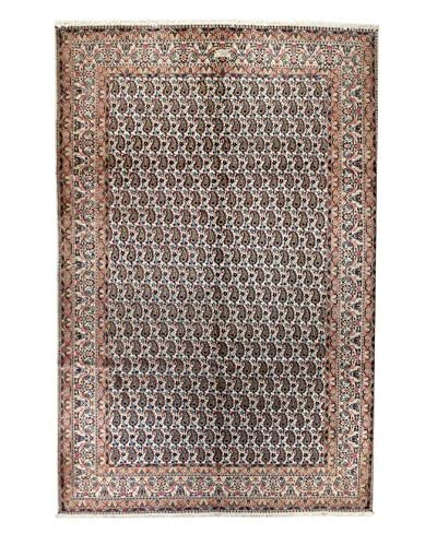 Bashian Rugs One-of-a-Kind Hand Knotted Persian Mood Rug, Ivory, 6' 7 x 9' 10