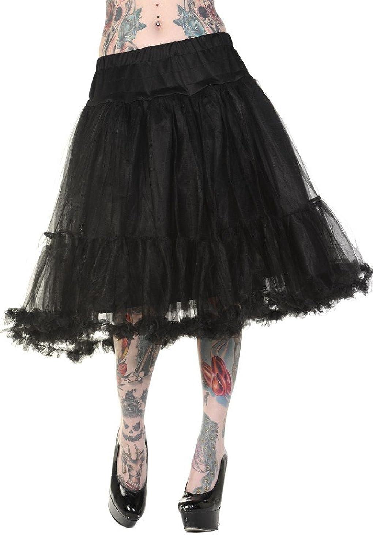 Banned Petticoat Rock Tutu maxi - Girlie, schwarz