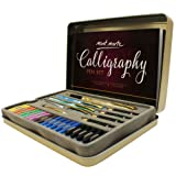 Calligraphy Pens Set by Mont Marte, Best Calligraphy Set for Beginners&Kids-33Pieces-2Pack, Includes Calligraphy Pens, Calligraphy Nibs, Ink Cartridges, and Exercise Workbook (Tamaño: Calligraphy sets)