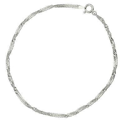 bracelet de cheville cheville k41094 femme cha ne argent gr bijoux o256. Black Bedroom Furniture Sets. Home Design Ideas