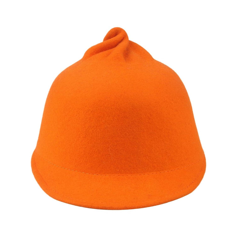 Amazon.co.jp: C-Princessフェルトハット 帽子 ハット レディース 女性用 饅頭のデザイン 独特な型ユニーク キュート 秋冬 あったかい (3オレンジ): Amazonファッション通販