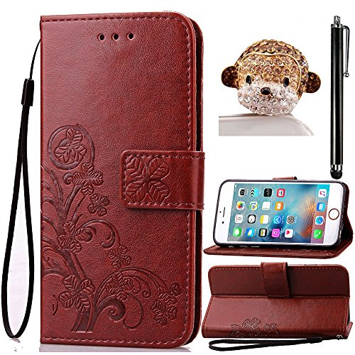 Portefeuille Wallet Etui pour Huawei P8 Lite, Sunroyal® Premium PU Cuir Housse Coque Dragonne Book StyleCase Cover Swag TPU Silicone Souple Couvercle
