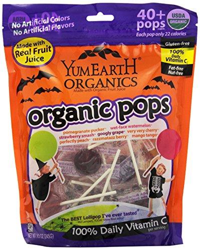 YumEarth Organic Halloween Lollipops, 8.5 Ounce