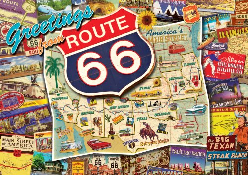 Buffalo Games Nostalgia: Route 66 - 500 Piece Jigsaw Puzzle by Buffalo Games