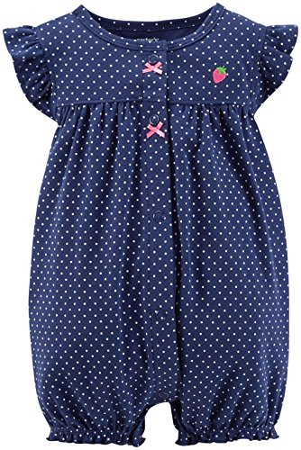 Carter's Baby Girls' Dot Print Romper (Baby) – Strawberry – 6 Months