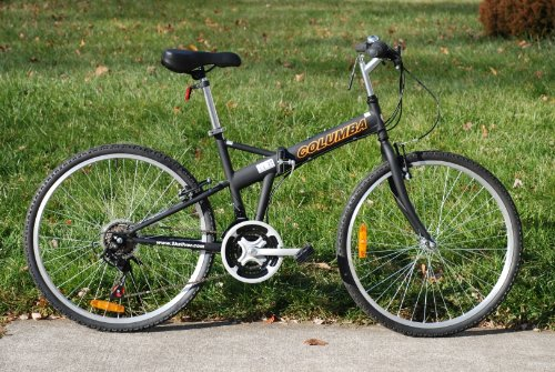 "Cheapest Price! Columba 26"" Folding Bike w. Shimano Black (SP26S_BLK)"