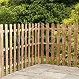 Waltons 4ft x 6ft Round Top Picket Traditional Garden Fencing Panels - Quality Timber! - Number of Panels Required: 11 - Number of 75mm Posts Required: 7