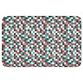 Modern Checkered Bathroom Rugs Incrediby Soft Memory Foam Spa Quality