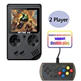 Hangyuan Retro Handheld Classic Game Console F-C System Plus Extra Joystick Video Game Consoles Built-in 168 Classic Games (Color: Black)