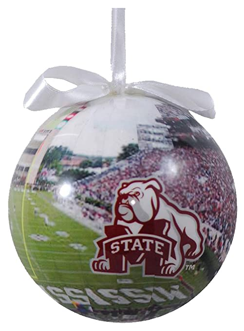NCAA Mississippi State Bulldogs Football Photo Ball Ornament
