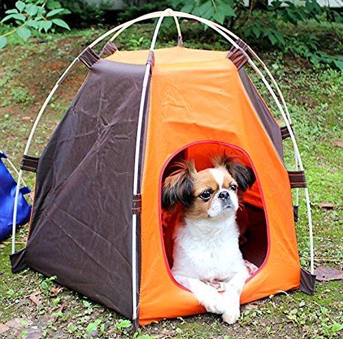 I.T outlet ペットハウス 置き型 テント ペット 用 犬舎 屋外 狗 約53×70×55cm アウトドア レジャー 簡易 犬小屋