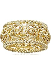 14k Yellow Gold Byzantine Ring, Size 7