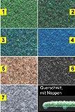 Rasenteppich / Kunstrasen Farbwunder Royal - 7 Farben zur Auswahl - 200x400cm, grau