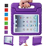 NEWSTYLE Apple iPad 2 3 4 Shockproof Case Light Weight Kids Case Super Protection Cover Handle Stand Case For Kids Children For Apple iPad 4, iPad 3 & iPad 2 2nd 3rd 4th Generation (Purple) (Color: Purple, Tamaño: 11.2 x 9.7 x 0.9 inches)