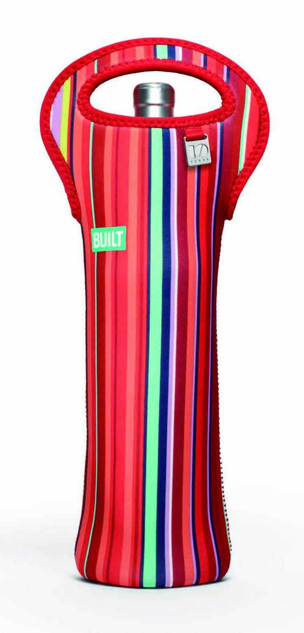 BUILT NY Original Neoprene Wine/Water Bottle Tote, Stripe
