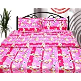 Cosmosgalaxy Cotton Double Bedsheet With Pillow Covers - Queen Size, Multicolor - B00SWKN1O2