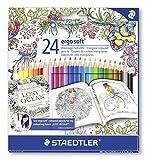 Toy - Staedtler 157 C24JB - Buntstifte ergosoft Set 24 farben, Exklusive Johanna Basford Edition