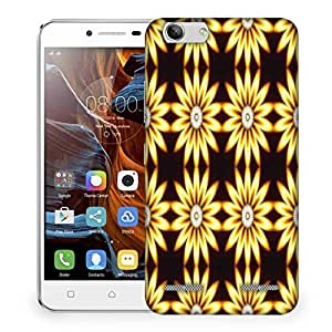 Snoogg Yellow Sunflower Designer Protective Phone Back Case Cover For Lenovo K5 Vibe