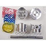 .030=0.75mm Upgraded Piston w//Premium Ring kit 85-95 Toyota 2.4L Pickup 4Runner Celica 22R//E//EC 8V SOHC