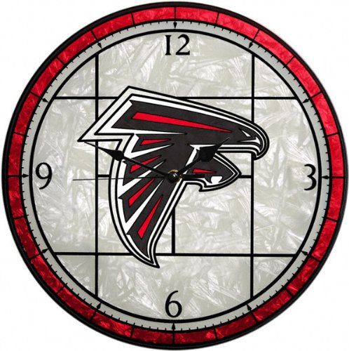 Atlanta Falcons Glass Wall Clock