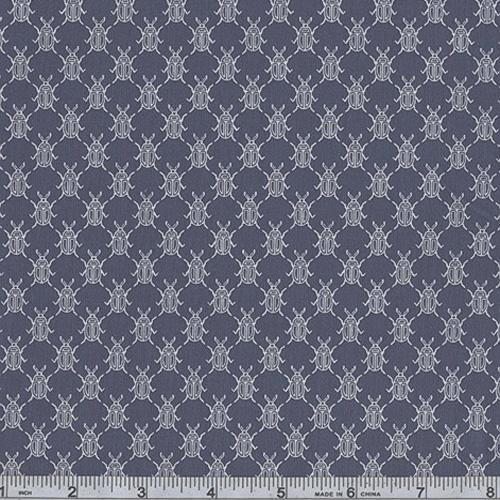 45'' Wide Classic Conversationals Scarabs Indigo Fabric By The Yard
