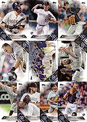 2016 Topps Series 1 Colorado Rockies Baseball Card Team Set - 10 Card Set - Includes Nolan Arenado, Charlie Blackmon, Nick Hundley, Chad Bettis, and more!