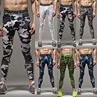 COOLOMG Compression Pants GYM Running…