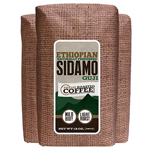 Ethiopian Natural Sidamo Guji Coffee, 12-Ounce Bags (Pack Of 3), Ground, Fresh Roasted Coffee Llc.