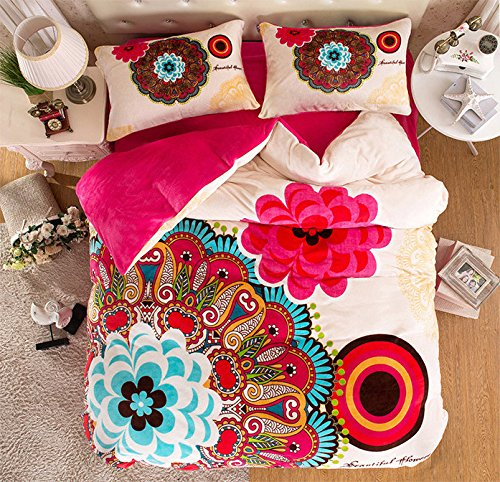 MakeTop-Boho-Style-Bedding-Set-Boho-Duvet-Cover-Set-Bohemian-Bedding-Set-Queen