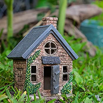 The Adorable Fairy Garden House With A Door That Opens and Closes | 7 Tall | Cute Windows On All Sides Of The House | Perfect For Any Garden Or Patio