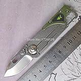 Sanrenmu SRM 6050 Pocket EDC Camping Survival Multifunction Tools Folding Knife Stonewashed Blade LED light 6050LUF-PP-T4