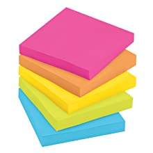 Post-it Notes Value Pack with Free Flag Highlighter, 3 x 3-Inches, Assorted Neon Colors, 12-Pads/Pack