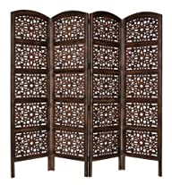 Rajasthan Antique Brown 4 Panel Handc…