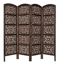 Rajasthan Antique Brown 4 Panel Handc…
