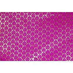 Aagaman Fashions Brocade Fabrics (TSFB037_Magenta)
