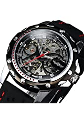 Luxury Sport Watches For Men Skeleton Wrist Watches Automatic Winding Mechanical Movement