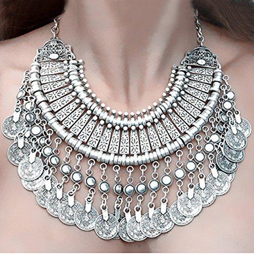 Bei wang New Fashion Silver Coins Statement Bib