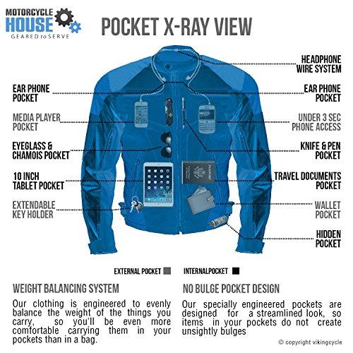 Viking Cycle Asger Motorcycle Jacket for Men (XL)