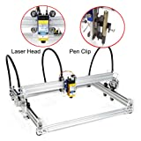 Upgraded Version A3 Pro 3 in 1 Drawing Writing Laser Engraver CNC Machine, 2500mw Laser Engraving Writing Robot Machine Working Area 300mm X 380mm