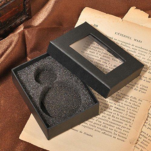 HJIAN Pocket Watch Black Roman Retro Vintage Quartz Pocket Watch Roman Numerals Steampunk Fob Watch 5