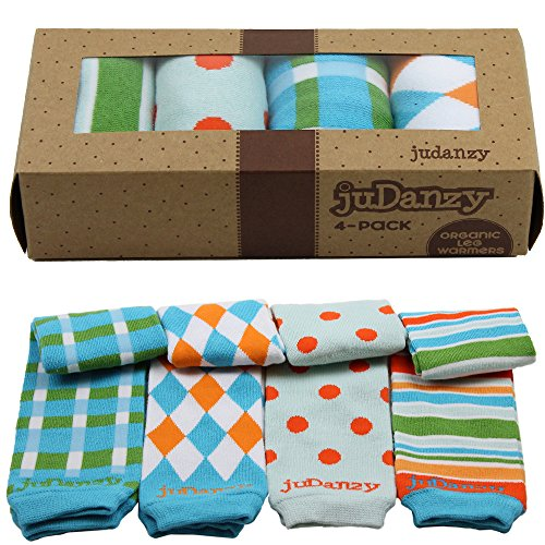 Judanzy Boys Organic 4 Pack Of Baby & Toddler Leg Warmers (Squire) front-652726