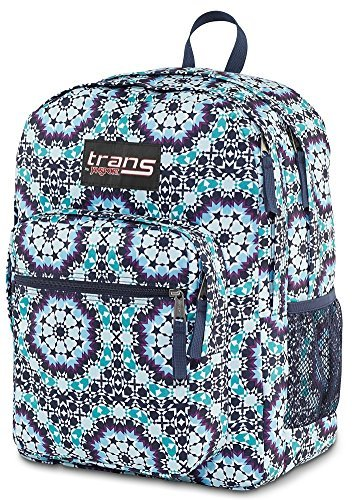 Trans by Jansport Backpack Supermax Navy Moonshine Moroccan Design