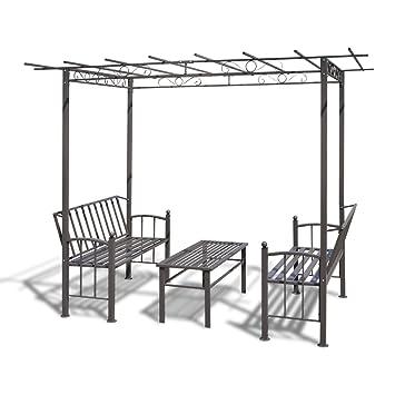 stahl pavillon gartenlaube gartenhaus laube rosenpavillon. Black Bedroom Furniture Sets. Home Design Ideas