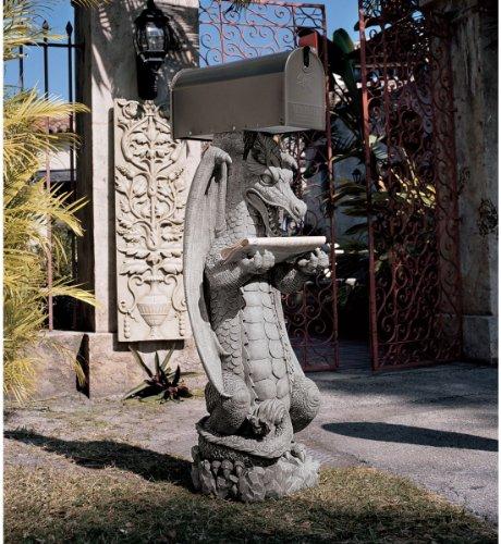 Zippy, the Dragon Sculptural Mail Post