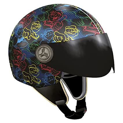 NZI 490022G637 Vintage II Outline Casque de Moto, Illustration Popeye, Taille : L